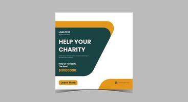 diseño de publicaciones de redes sociales de caridad. dona en tus redes sociales de caridad vector