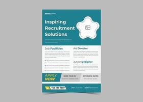 estamos contratando diseño de flyer. plantilla de folleto de oferta de trabajo. vacante de trabajo vector