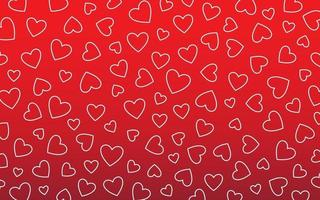 Red Background with Heart Motif vector