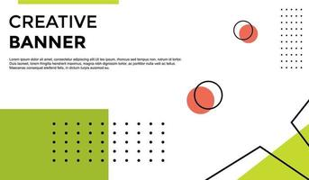 Creative Banner Background Template with Green and Red vector