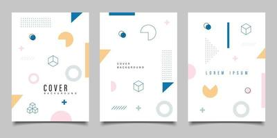 Minimalist Memphis Style Page Background Design Template vector