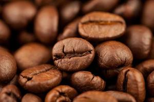 Roasted coffee of coffee beans texture background, Selective focus photo
