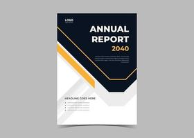 Annual Report and Company Profile Template.Annual Report flyer poster vector