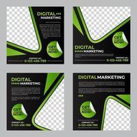 Digital Marketing Social Media Post Template vector