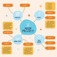 Creative Mind Map Elements in Flat Style vector