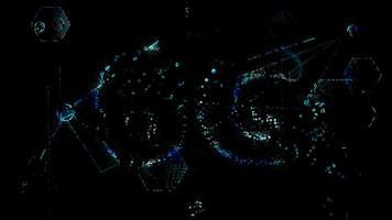 connexion internet ultra rapide futuriste abstraite 6g glitter video