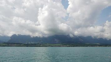 Timelapse Thun Lake with cloudy video