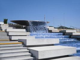 Sochi, Russia, August 2019 Cascade fountain in Olympic Park photo