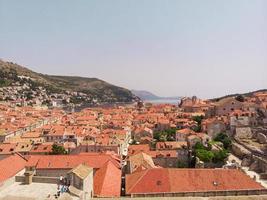 Aerial view at famous European travel destination in Croatia Dubrovnik photo