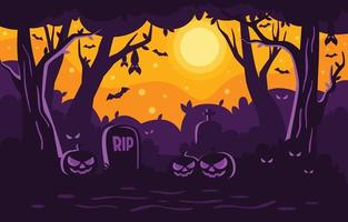 lindo fondo de halloween con elementos espeluznantes vector