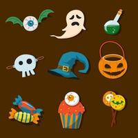 Handrawn Trick or Treat Icon Collection vector