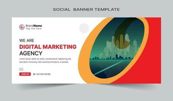 Social media post and web banner template design. Fully editable vector