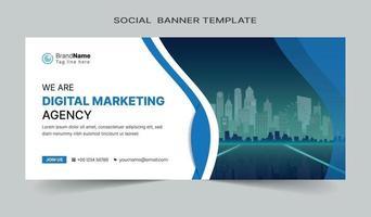 publicación de redes sociales y diseño de plantillas de banner web. totalmente editable vector