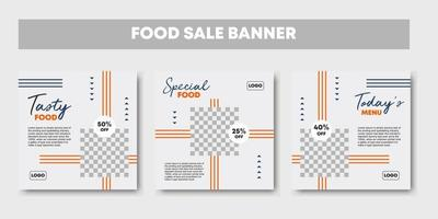 Culinary food beverage social media post template vector