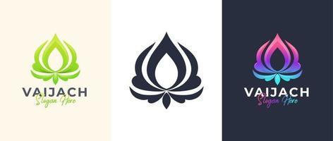 abstract lotus flower logo design vector
