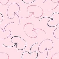 Delicate seamless pattern with cherries berries doodle vector