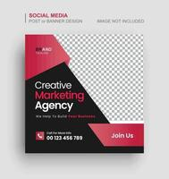 Publicación de redes sociales de marketing digital y banner web. vector