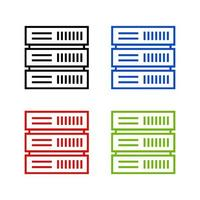 Server illustrated on a white background vector