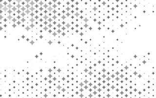 Light Silver, Gray vector texture with beautiful stars.