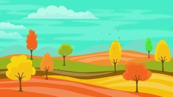 Cartoon Background - Autumn Season video