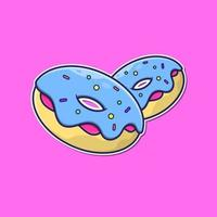 donuts on pink vector