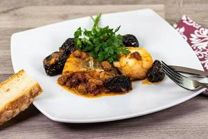 plate of sweet and sour cod photo