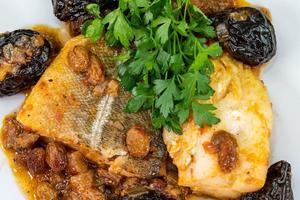 sweet and sour cod with parsley photo