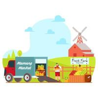 Agriculture Product Ready to sell illustration vector