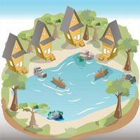 Tropical Holiday Resort vector