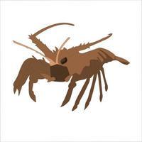 Lobster Color Clipart Vector Illustration Design