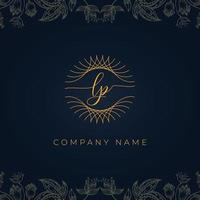 Elegant luxury letter LP logo. vector