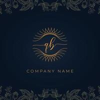 Elegant luxury letter QB logo. vector