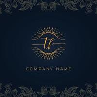 Elegant luxury letter TF logo. vector