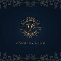 Elegant luxury letter TL logo. vector
