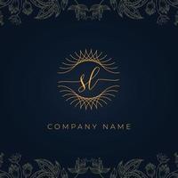 Elegant luxury letter SL logo. vector