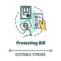 Protesting bill concept icon vector