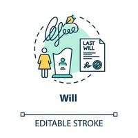 Will concept icon vector