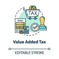 Value added tax concept icon vector