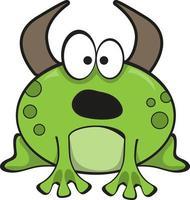 Bullfrog cartoon character. Funny illustration vector