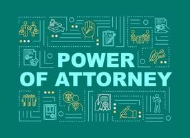 Power of attorney word concepts banner vector