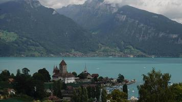 Timelapse Spiez City with lake in Switzerland video