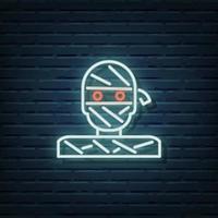 Mummy Neon Sign vector
