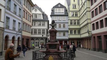 Timelapse old town square romerberg in Frankfurt, Germany video