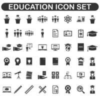 educational icon set design vector