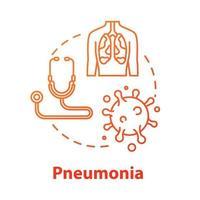 Pneumonia concept icon vector