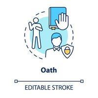 Oath concept icon vector