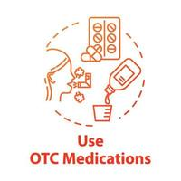 Use OTC medication concept icon vector