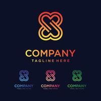 Iconos del logotipo de la letra s para el negocio de la moda, el deporte, la tecnología digital vector