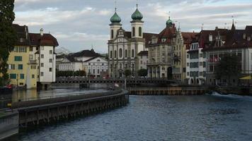 Timelapse Lucern City in Switzerland video