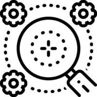 icono de línea para generalidades vector